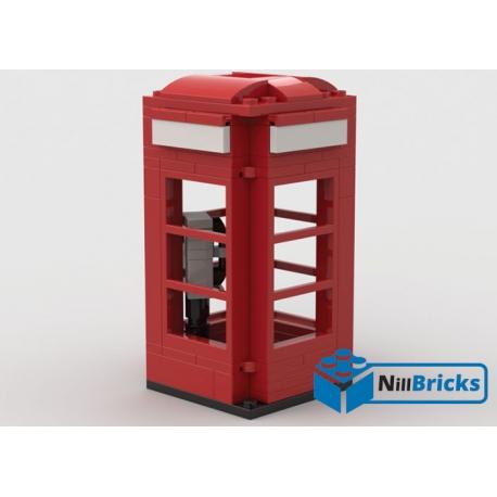 NOTICE DE MONTAGE NILLBRICKS LEGO CABINE TELEPHONIQUE LONDRE : NM00028