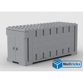 NOTICE DE MONTAGE NILLBRICKS CONTAINER GRIS LEGO : NM00032