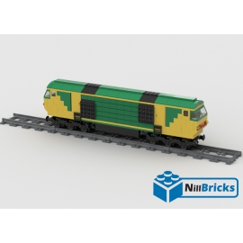 NOTICE DE MONTAGE NILLBRICKS TRAIN DIESEL JAUNE ET VERT LEGO : NM00034