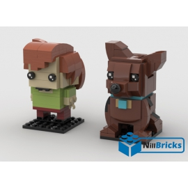 NOTICE DE MONTAGE NILLBRICKS SAMY & SCOOBY BRICKHEADZ : NM00035