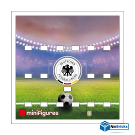 FOND DE CADRE  POUR MINIFIGURES (MINIFIGS) LEGO EQUIPE DE FOOT D ALLEMAGNE  NILLBRICKS ref : FC00001