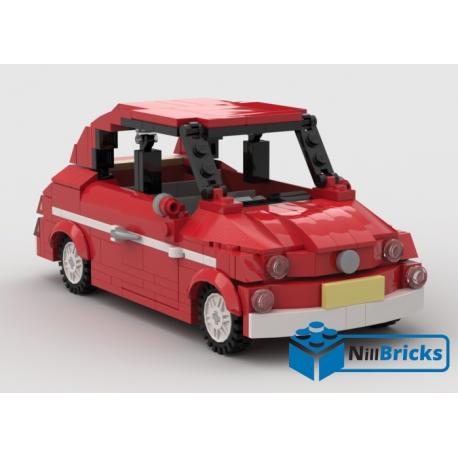 NOTICE DE MONTAGE NILLBRICKS FIAT 500 ROUGE : NM00055