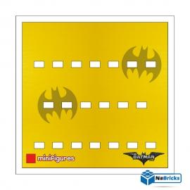 FOND DE CADRE POUR MINIFIGURES (MINIFIGS) LEGO BATMAN MOVIE SERIE 1 BLANC NILLBRICKS ref : FC00002