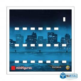 FOND DE CADRE POUR MINIFIGURES (MINIFIGS) LEGO BATMAN MOVIE SERIE 2 BLANC NILLBRICKS ref : FC00003