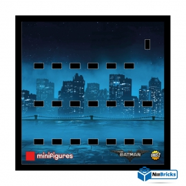 CADRE POUR MINIFIGURES (MINIFIGS) LEGO BATMAN MOVIE SERIE 2 NOIR NILLBRICKS ref : CM00005