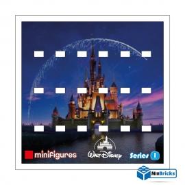 FOND DE CADRE POUR MINIFIGURES (MINIFIGS) LEGO DISNEY SERIE 1 BLANC NILLBRICKS ref : FC00005