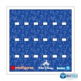 FOND DE CADRE POUR MINIFIGURES (MINIFIGS) LEGO DISNEY SERIE 2 BLANC NILLBRICKS ref : FC00006