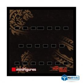 FOND DE CADRE POUR MINIFIGURES (MINIFIGS) THE NINJAGO MOVIE 25 X 25 CM NOIR NILLBRICKS ref : FC00009