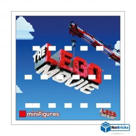 FOND DE CADRE POUR MINIFIGURES (MINIFIGS) LEGO SERIE THE LEGO MOVIE 1 BLANC NILLBRICKS ref : FC00010