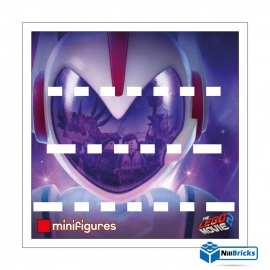 FOND DE CADRE POUR MINIFIGURES (MINIFIGS) LEGO SERIE THE LEGO MOVIE 2 BLANC NILLBRICKS ref : FC00011