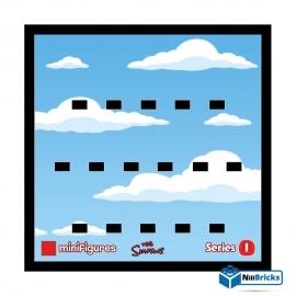 CADRE POUR MINIFIGURES (MINIFIGS) LEGO THE SIMPSONS SERIE 1 NOIR NILLBRICKS ref : CM00014
