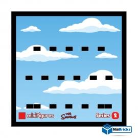 CADRE POUR MINIFIGURES (MINIFIGS) LEGO THE SIMPSONS SERIE 2 NOIR NILLBRICKS ref : CM00015