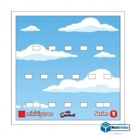 CADRE POUR MINIFIGURES (MINIFIGS) LEGO THE SIMPSONS SERIE 2 BLANC NILLBRICKS ref : CM00017