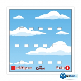 FOND DE CADRE POUR MINIFIGURES (MINIFIGS) LEGO THE SIMPSONS SERIE 1 BLANC NILLBRICKS ref : FC00012
