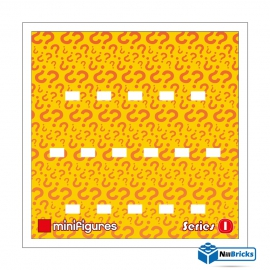 CADRE POUR MINIFIGURES (MINIFIGS) LEGO SERIE 1 25 X 25 CM BLANC NILLBRICKS ref : CM00019