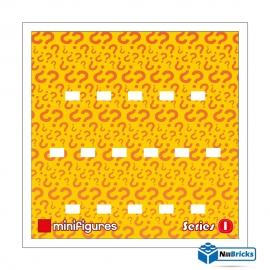 FOND DE CADRE POUR MINIFIGURES (MINIFIGS) LEGO SERIE 1 25 X 25 CM BLANC NILLBRICKS ref : FC00015