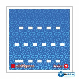 CADRE POUR MINIFIGURES (MINIFIGS) LEGO SERIE 2 25 X 25 CM BLANC NILLBRICKS ref : CM00021