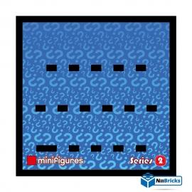 CADRE POUR MINIFIGURES (MINIFIGS) LEGO SERIE 2 25 X 25 CM NOIR NILLBRICKS ref : CM00022