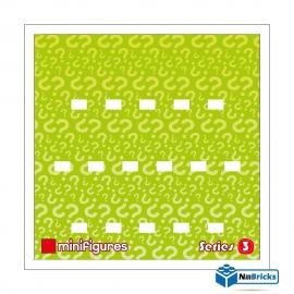 CADRE POUR MINIFIGURES (MINIFIGS) LEGO SERIE 3 25 X 25 CM BLANC NILLBRICKS ref : CM00023