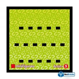 CADRE POUR MINIFIGURES (MINIFIGS) LEGO SERIE 3 25 X 25 CM NOIR NILLBRICKS ref : CM00024