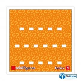 CADRE POUR MINIFIGURES (MINIFIGS) LEGO SERIE 4 25 X 25 CM BLANC NILLBRICKS ref : CM00025
