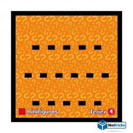 CADRE POUR MINIFIGURES (MINIFIGS) LEGO SERIE 4 25 X 25 CM NOIR NILLBRICKS ref : CM00026