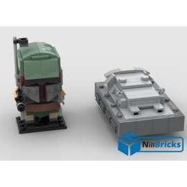 NOTICE DE MONTAGE NILLBRICKS BOOBA FETT & SOLO CARBONITE BRICKHEADZ : NM00067