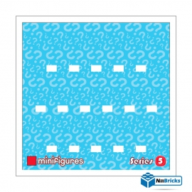 CADRE POUR MINIFIGURES (MINIFIGS) LEGO SERIE 5 25 X 25 CM BLANC NILLBRICKS ref : CM00027