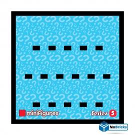 CADRE POUR MINIFIGURES (MINIFIGS) LEGO SERIE 5 25 X 25 CM NOIR NILLBRICKS ref : CM00028