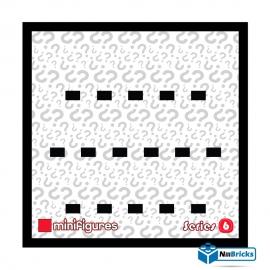 CADRE POUR MINIFIGURES (MINIFIGS) LEGO SERIE 6 25 X 25 CM NOIR NILLBRICKS ref : CM00030