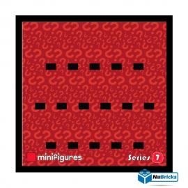 CADRE POUR MINIFIGURES (MINIFIGS) LEGO SERIE 7 25 X 25 CM NOIR NILLBRICKS ref : CM00032