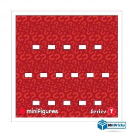 FOND DE CADRE POUR MINIFIGURES (MINIFIGS) LEGO SERIE 7 25 X 25 CM BLANC NILLBRICKS ref : FC00021