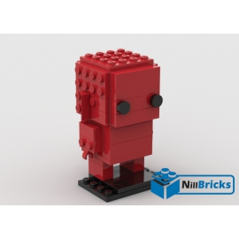 NOTICE DE MONTAGE NILLBRICKS BRICKHEADZ MONOCHROME 9 RED : NM00097