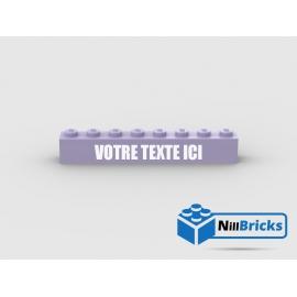 Brique Lego 1x8 Lavender avec gravure personnalisée