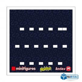 FOND DE CADRE POUR MINIFIGURES (MINIFIGS) LEGO SERIE 14 25 X 25 CM BLANC NILLBRICKS ref : FC00028