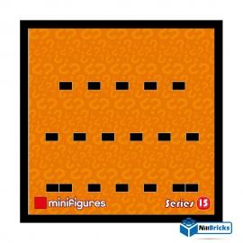 CADRE POUR MINIFIGURES (MINIFIGS) LEGO SERIE 15 25 X 25 CM NOIR NILLBRICKS ref : CM00048