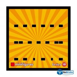 CADRE POUR MINIFIGURES (MINIFIGS) LEGO SERIE 18 25 X 25 CM NOIR NILLBRICKS ref : CM00054