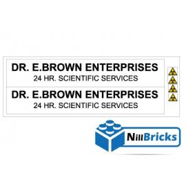 STICKER POUR DÉCORATION VAN DU DOC EMMET BROWN LEGO NILLBRICKS ref : ST00001