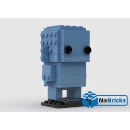 NOTICE DE MONTAGE NILLBRICKS BRICKHEADZ MONOCHROME 13 MEDIUM BLUE : NM00114