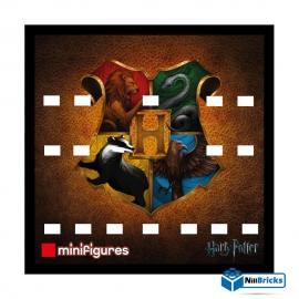 CADRE POUR MINIFIGURES (MINIFIGS) LEGO SUR DEMANDE HARRY POTTER V1  25 X 25 CM NOIR NILLBRICKS ref : CM00082