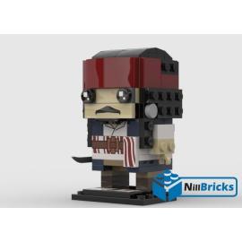NOTICE DE MONTAGE NILLBRICKS BRICKHEADZ JACK SPARROW : NM00132