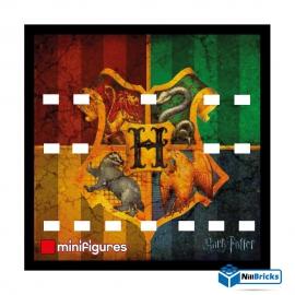 CADRE POUR MINIFIGURES (MINIFIGS) LEGO SUR DEMANDE HARRY POTTER V2  25 X 25 CM NOIR NILLBRICKS ref : CM00084
