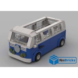 NOTICE DE MONTAGE NILLBRICKS COMBI BLEU 2 BTTF LEGO RETOUR VERS LE FUTUR LEGO : NM00141