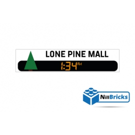 STICKER POUR DÉCORATION LONE PINE MALL BTTF LEGO NILLBRICKS ref : ST00004