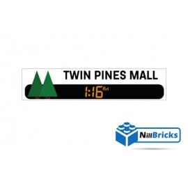 STICKER POUR DÉCORATION TWIN PINES MALL BTTF LEGO NILLBRICKS ref : ST00005