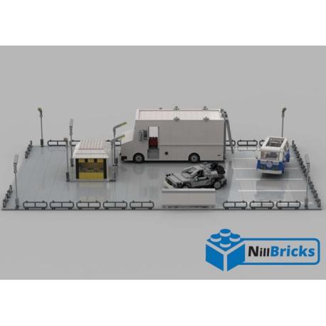 NOTICE DE MONTAGE NILLBRICKS SCENE TWINE PINES & LONE PINE BTTF LEGO RETOUR VERS LE FUTUR LEGO : NM00142