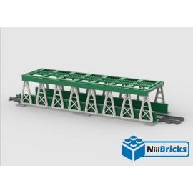 NOTICE DE MONTAGE NILLBRICKS LEGO PONT POUR TRAIN 3 VERT : NM00150