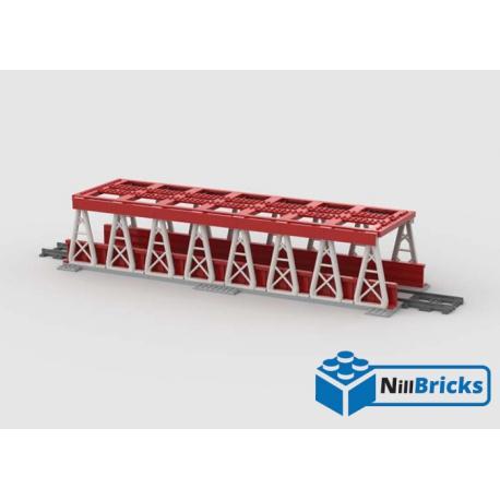 NOTICE DE MONTAGE NILLBRICKS LEGO PONT POUR TRAIN 4 ROUGE : NM00151