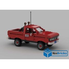 NOTICE DE MONTAGE NILLBRICKS LEGO 4 X 4 NEEDLES BTTF : NM00154