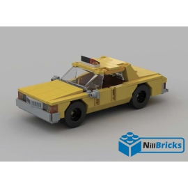 NOTICE DE MONTAGE NILLBRICKS LEGO TAXI NEW YORKAIS 90'S CHEVROLET CAPRICE : NM00160